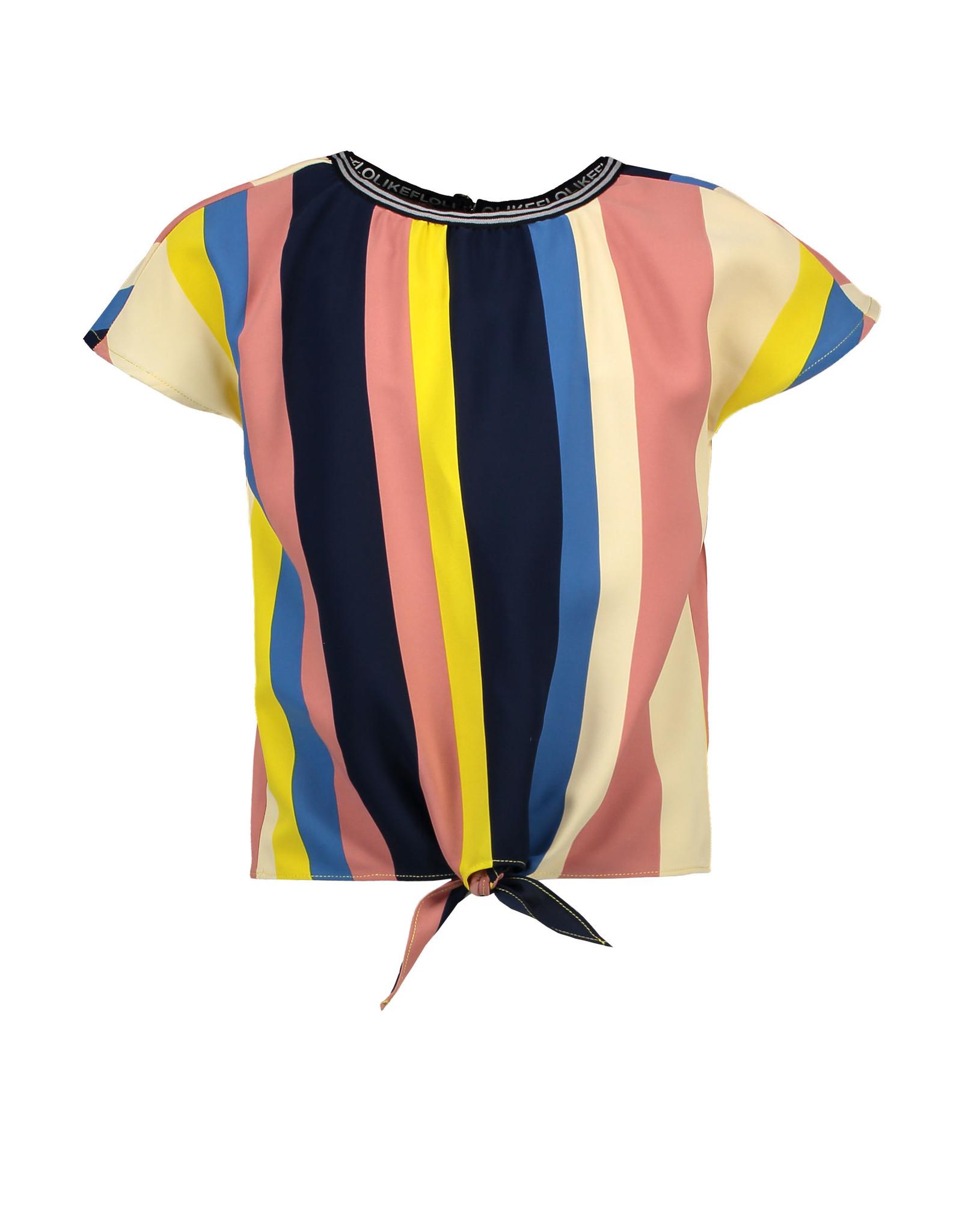 Like Flo Like Flo Girls Multi stripe Knotted Top Multi