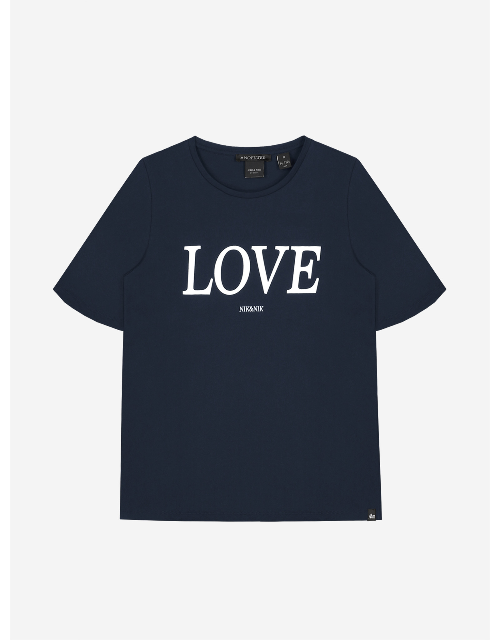 Nik&Nik NIK&NIK Lora Love T-shirt Royal Blue