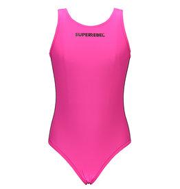 "Super Rebel Super Rebel-Girls Bathing suit- ""Sugar Pink"""