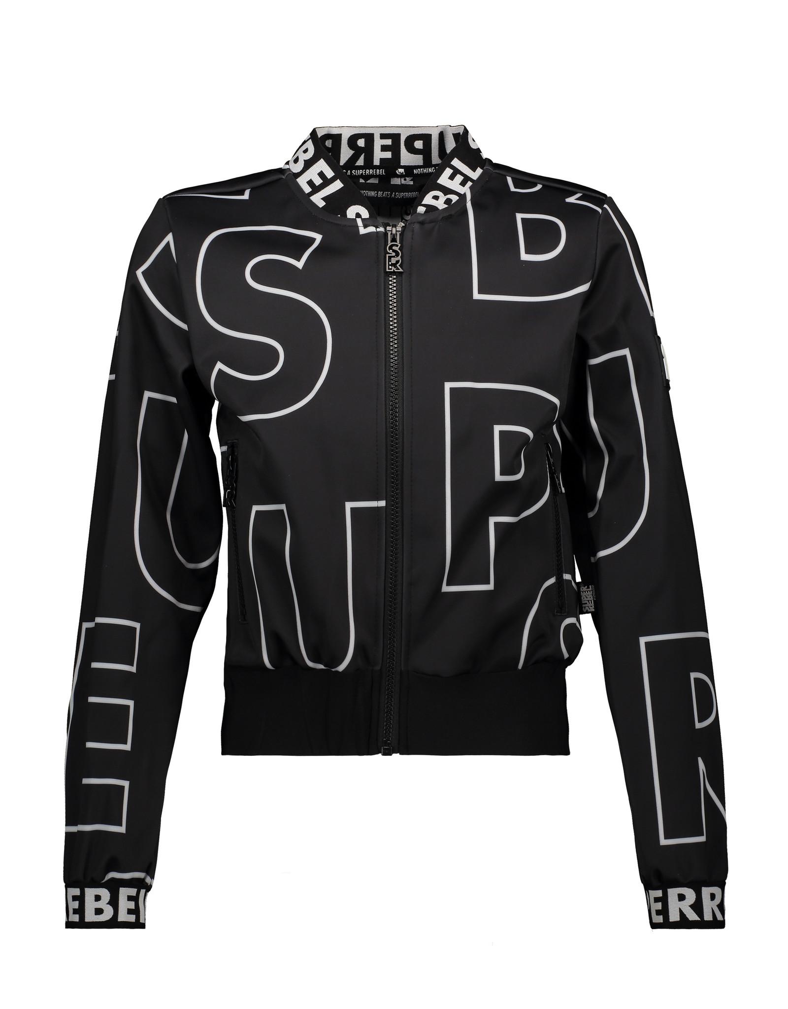 """Super Rebel Super Rebel-Soft Shell Jacket-""""Tekst Black"""""""