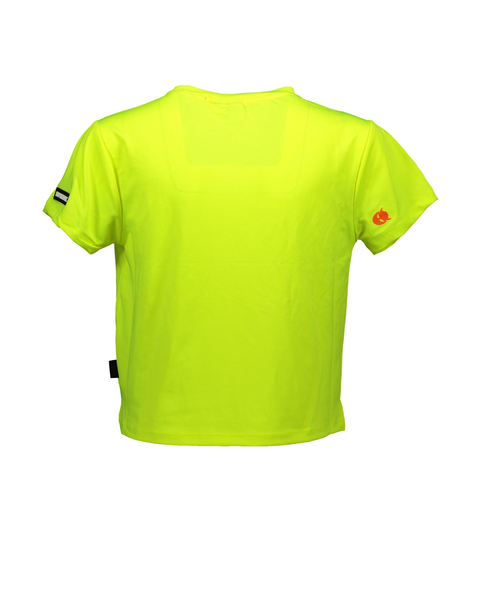 "Super Rebel Super Rebel-Girls Active T-Shirt+Print-""Neon Yellow"""