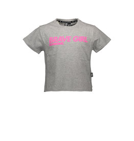 "Super Rebel Super Rebel-Girls Active T-Shirt+Print-""Grey Melee"""