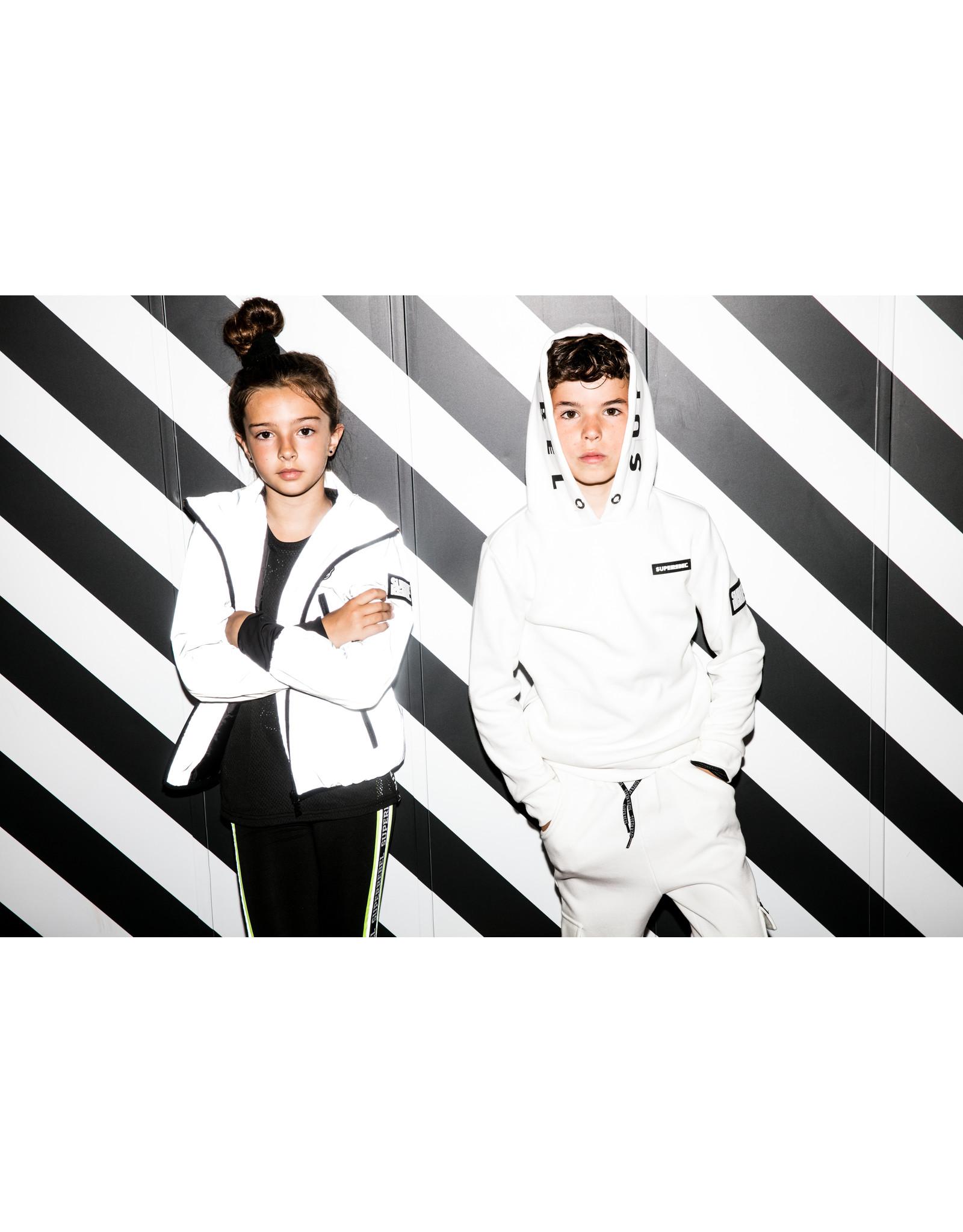 "Super Rebel Super Rebel-Girls Sport Capri Running Pants-""Black/Multi"""