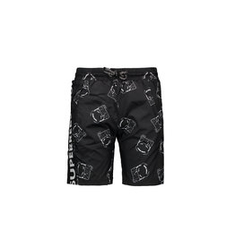 "Super Rebel Super Rebel-Boys Swim Short Plain-""Black Devil"""