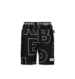 "Super Rebel Super Rebel-Boys Swim Shorts AO-""Tekst Black"""