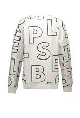 "Super Rebel Super Rebel-Sweater Heavy Interlock""Tekst White"""