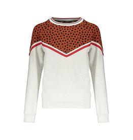 NoBell NoBell Kambia longsleeve Sweater V-cheeta COGNAC