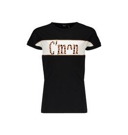 NoBell NoBell Kamy short sleeve T-shirt witn C'mon print JET BLACK