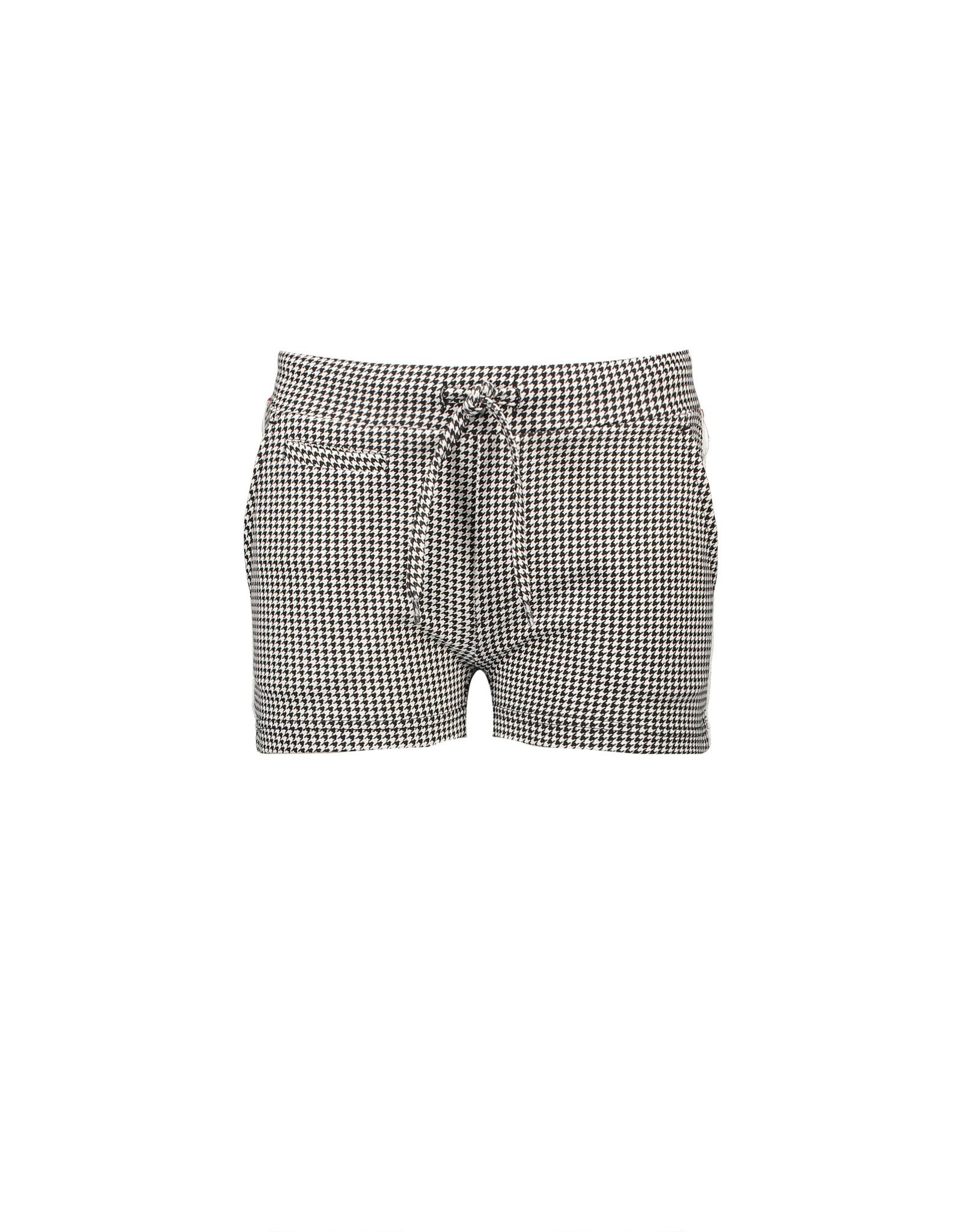 NoBell NoBell ShortyB Short Pants in all over print Pied de Poule JET BLACK