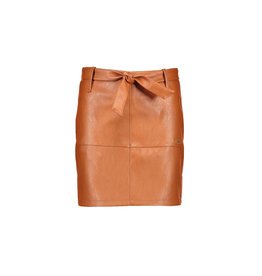 NoBell NoBell Nisha Imitatie Leather Skirt with Belt COGNAC
