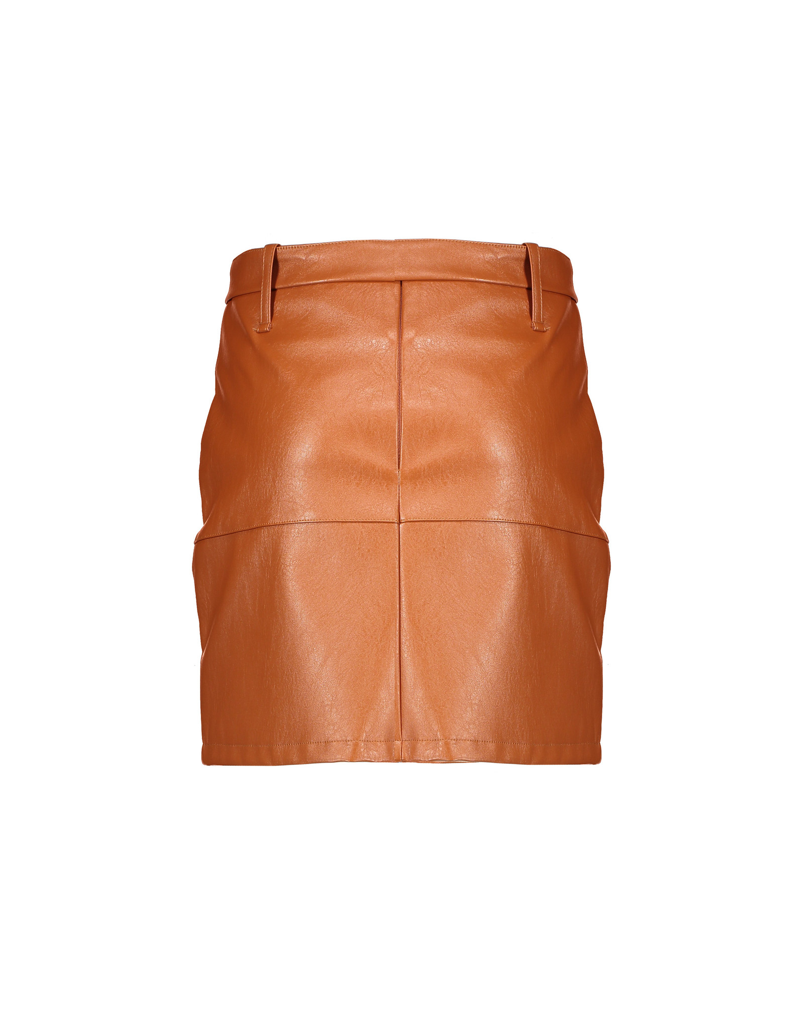 NoBell NoBell Nisha Imitatie Leather Skirt with Belt COGNAC