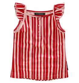 Your Wishes Your Wishes Ruffle Singlet Pink Stripes