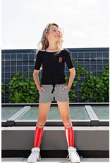 NoBell NoBell Rino Long Socks Stripe at side FRESH TOMATO