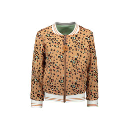 NONO NONO Donnac AOP reversible animal/leopard jacket Hazelnut