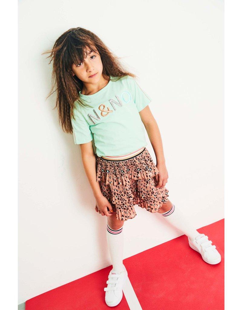 NONO NONO Kusol tshirt s/sl with NONO embroidery Mint