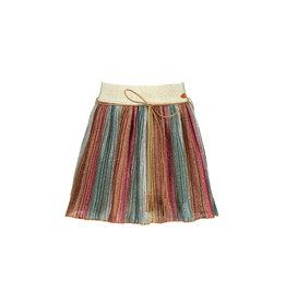 NONO NONO NikkyB pleated glitter skirt elastic waist Soft Copper