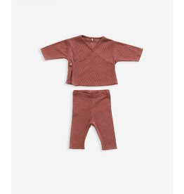 Play Up Play Up Cardigan+Trousers Set OLD TILE