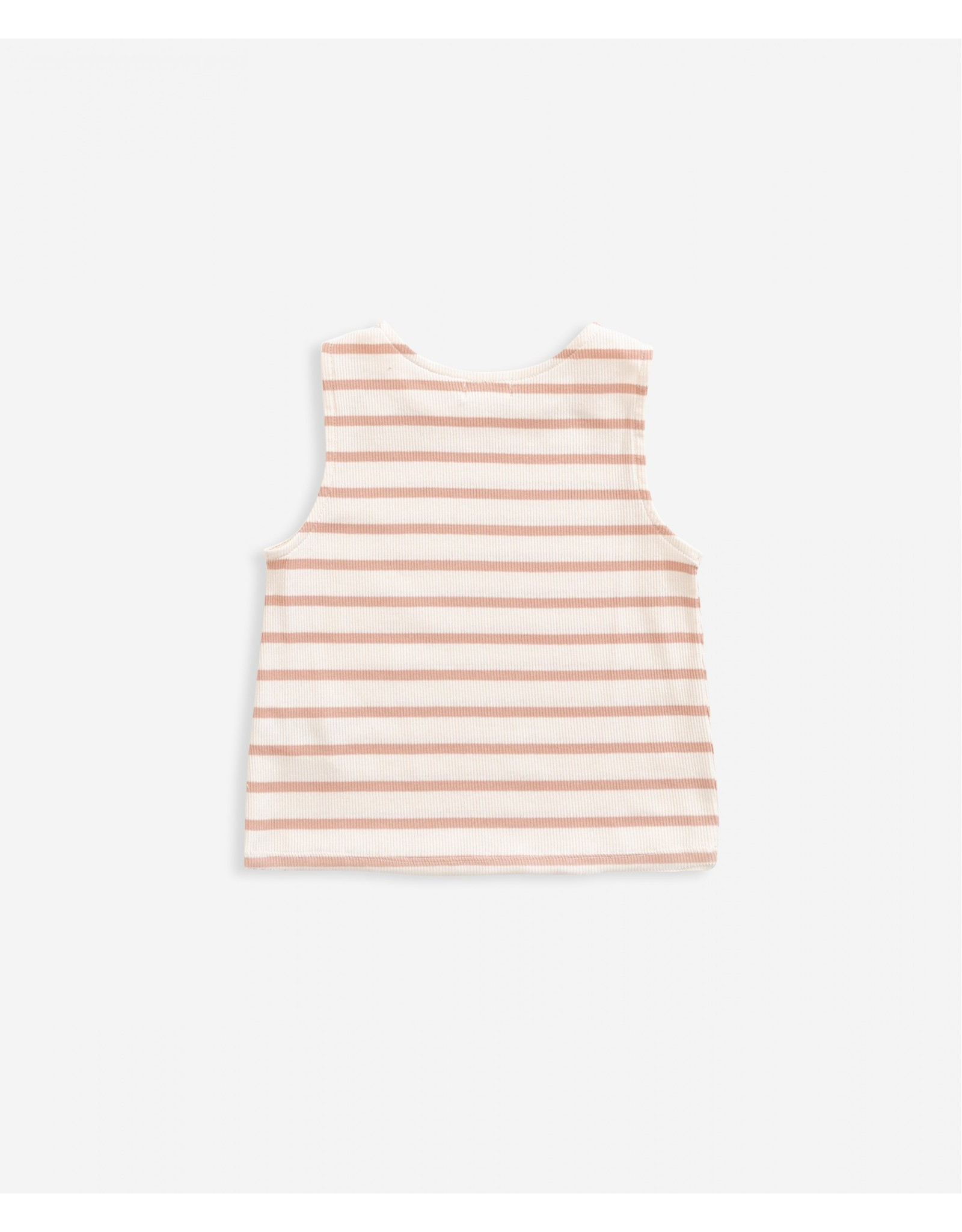Play Up Play Up Striped Sleeveless Rib T-Shirt SMOOTH