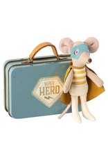 Maileg Maileg Super Hero Mouse, Little brother in suitcase