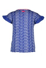 B.Nosy B.Nosy Girls Shirt letter all over print flaired sleeve Check it Princess