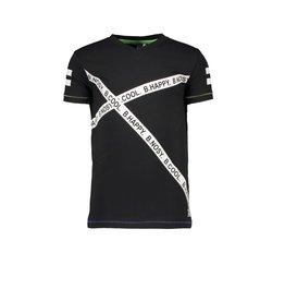 B.Nosy B.Nosy Boys longsleeve Shirt slanted BY tapes Black
