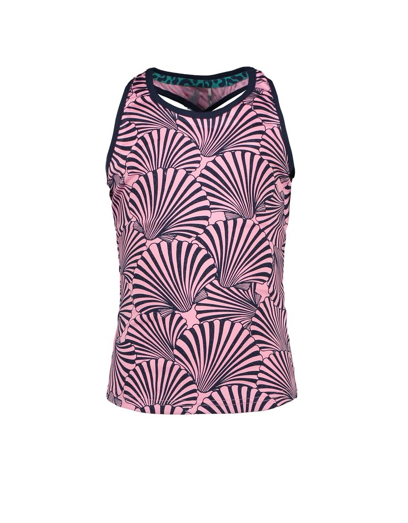 B.Nosy B.Nosy Girls Tanktop with Shell all over SORBET PINK