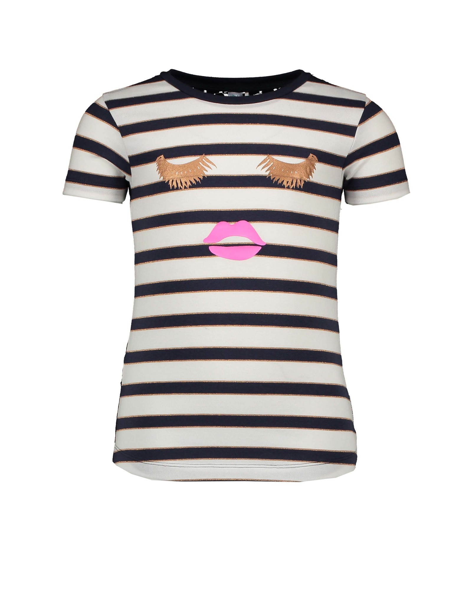 B.Nosy B.Nosy Girls YDS Shirt with lace backside OXFORD STRIPE