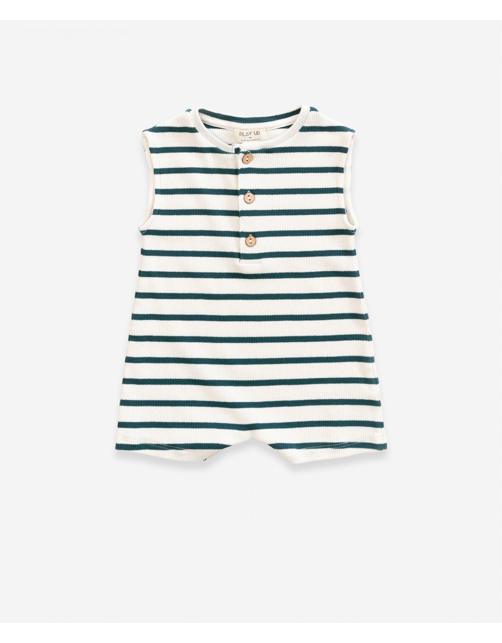 Play Up Play Up Striped Rib Jumpsuit Old Glass