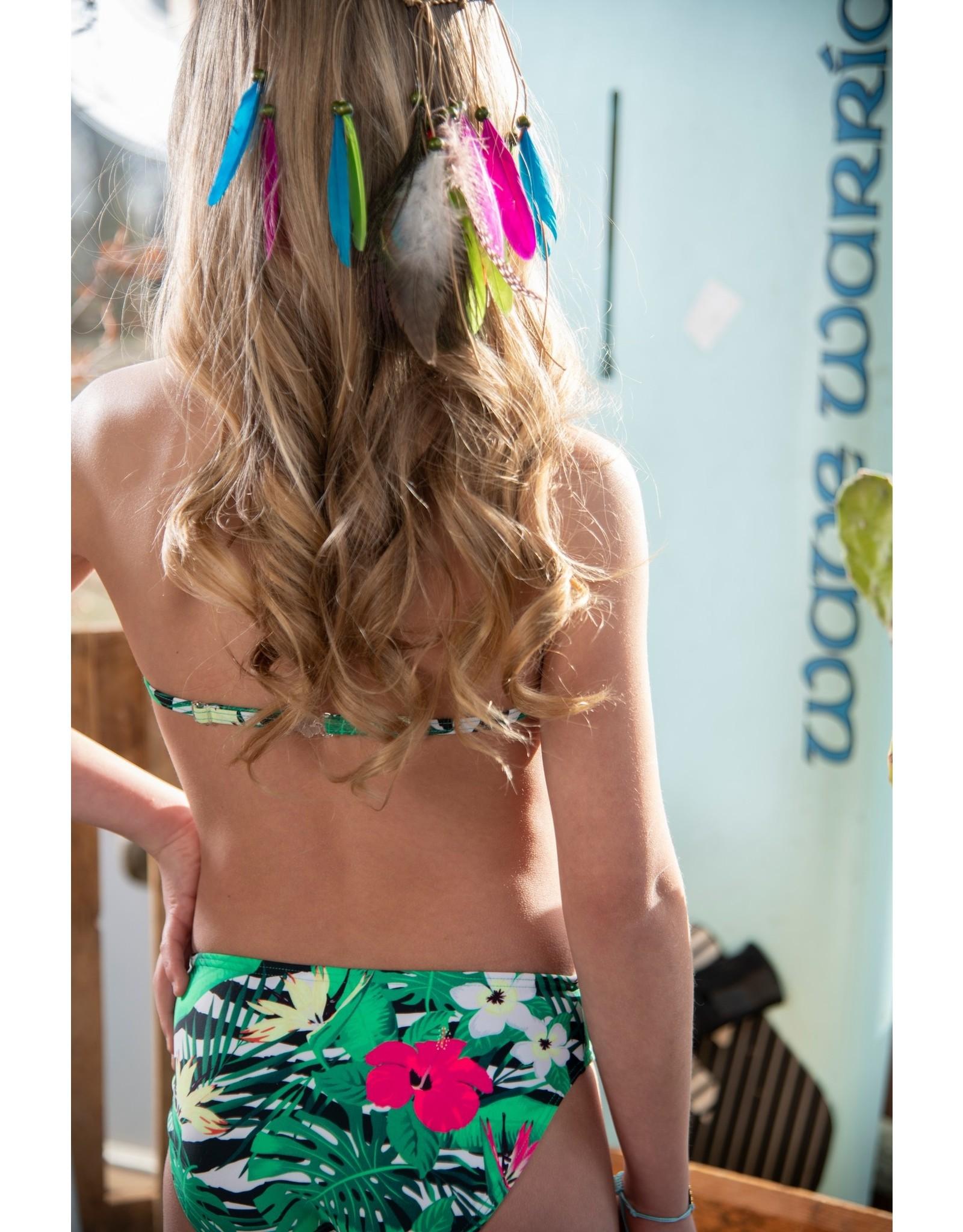 Just BEACH Just BEACH Girls Triangel Bikini Flower Zebra