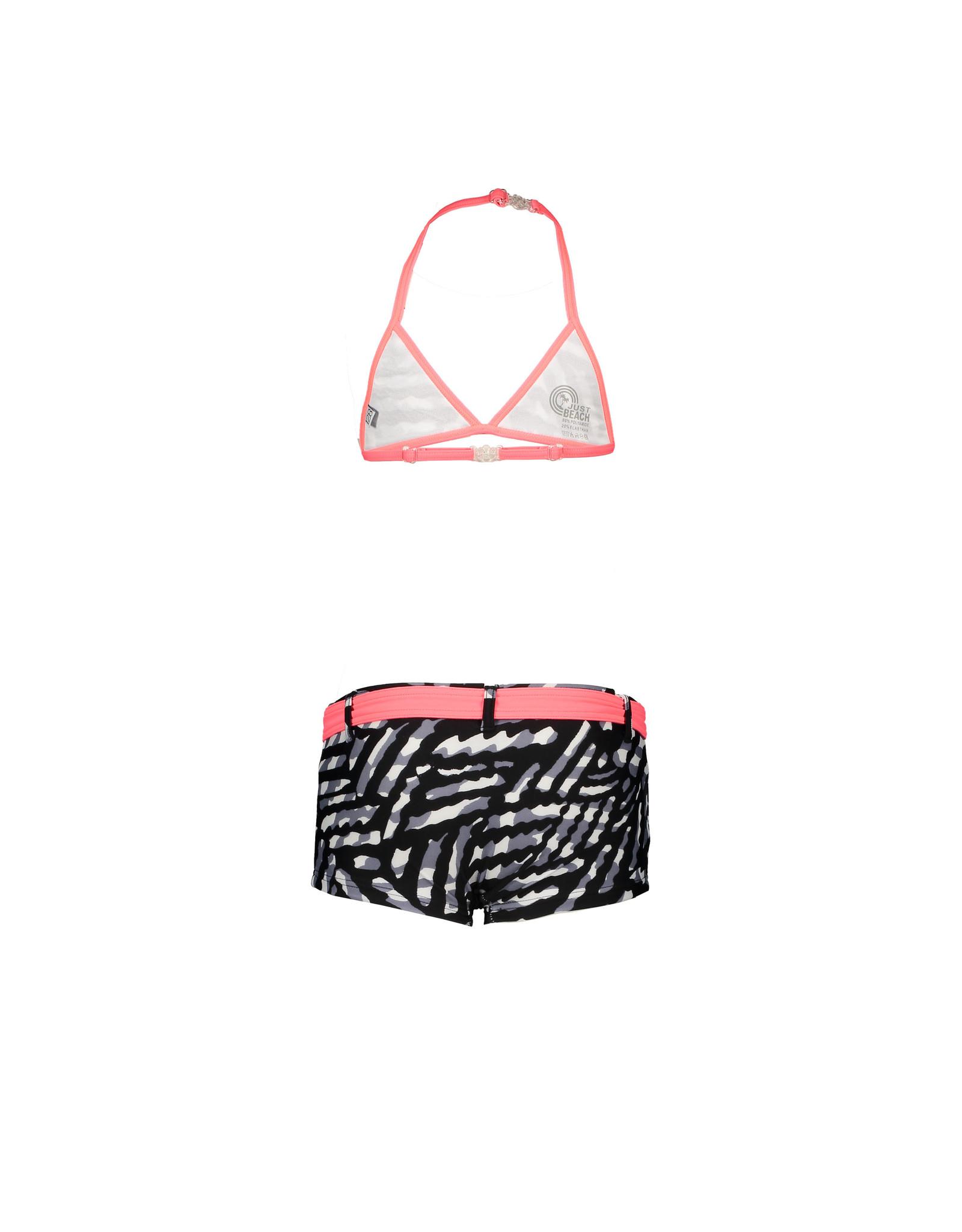 Just BEACH Just BEACH Girls Triangle Bikini with belt BLACK