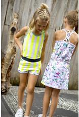 B.Nosy B.Nosy Girls short with folded hem SAFETY YELLOW STRIP