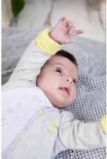 Little Bampidano Bampidano New Born Reversible Cardigan melange y/d GREY MELEE STRIPE