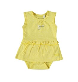 Little Bampidano Bampidano New Born Girls Romper Dress sleeveless YELLOW ALLOVER