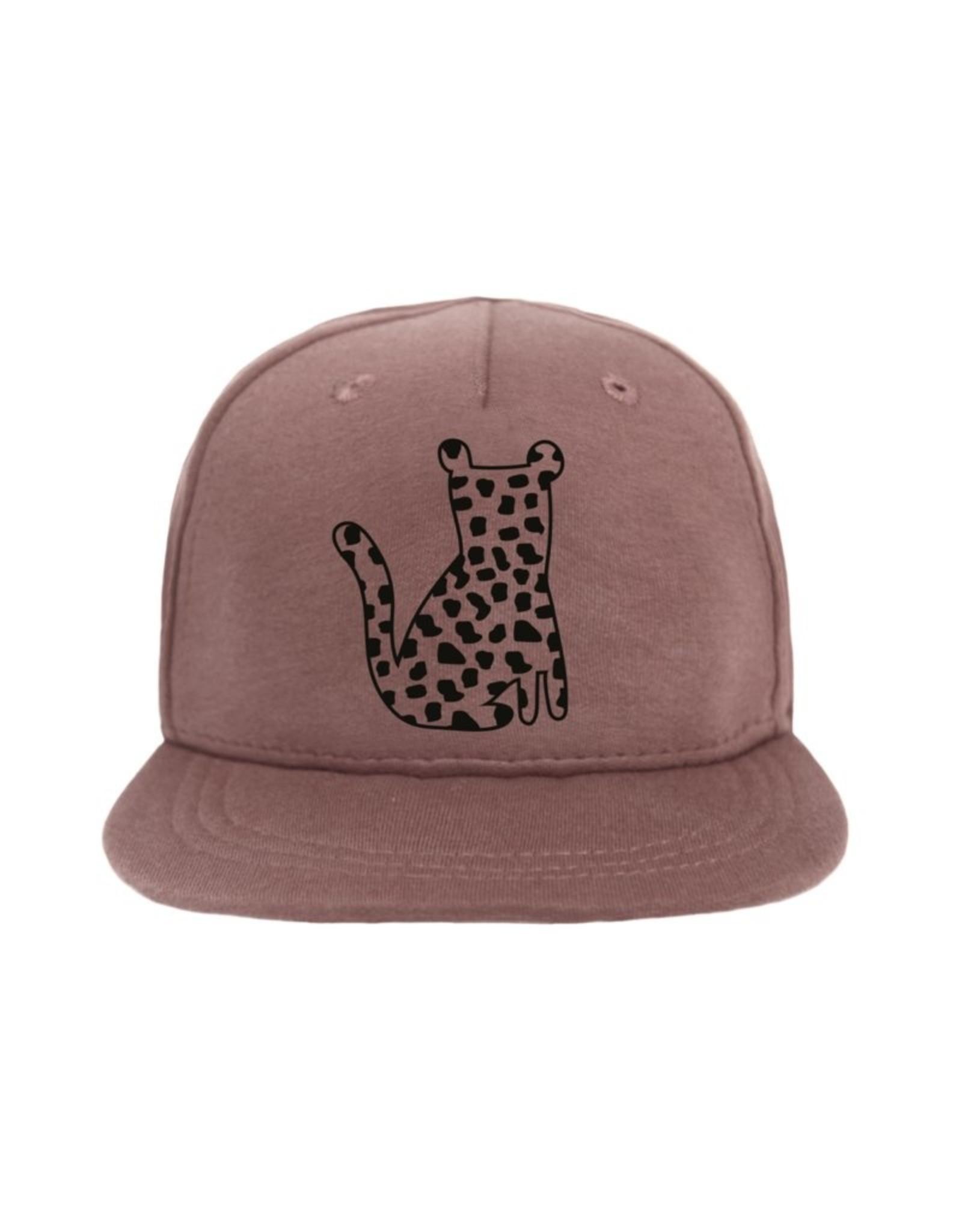 Van Pauline Van Pauline Cap Leopard Spots Dark Pink 74/80