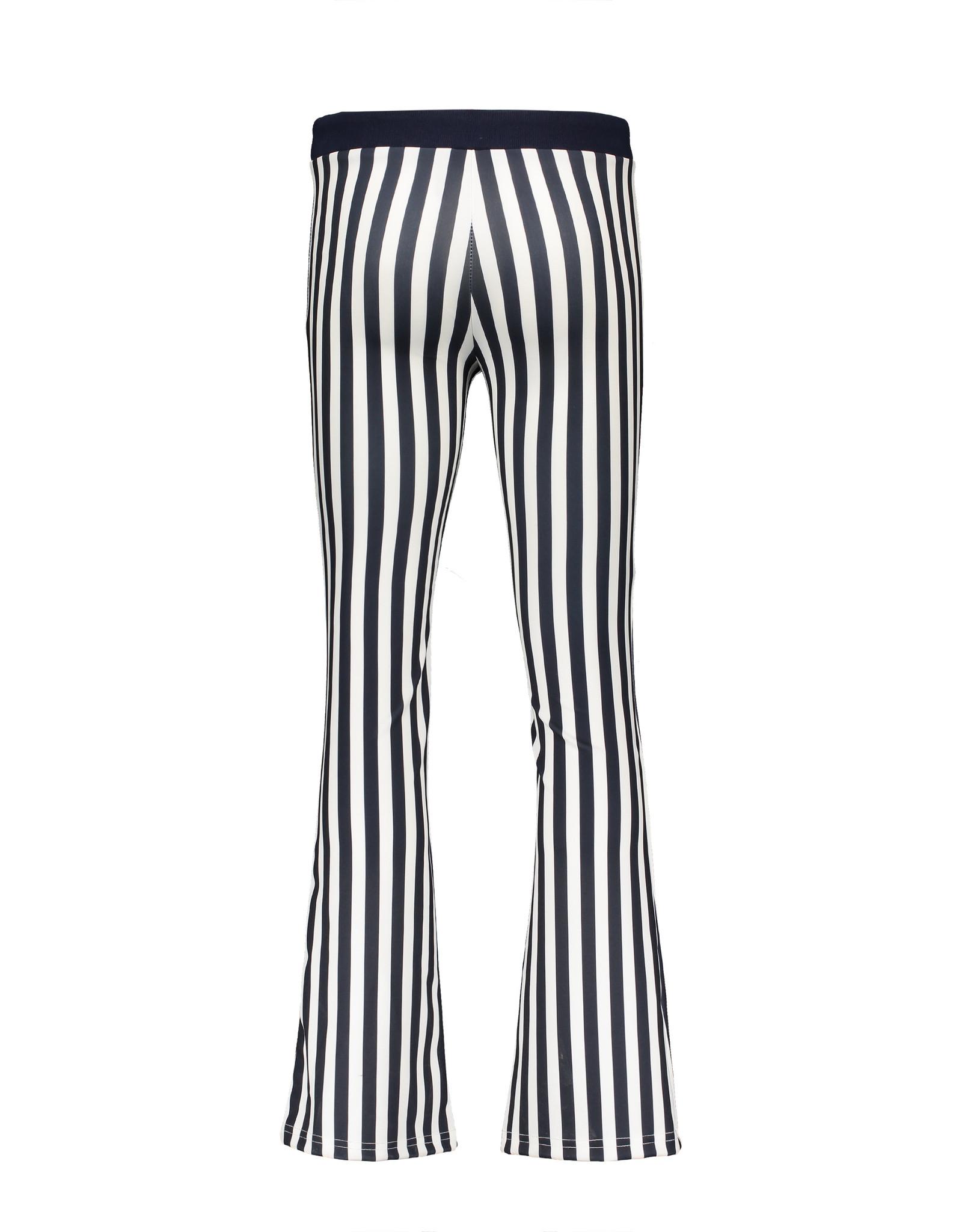 NoBell NoBell Sahara striped flared pants NAVY BLAZER