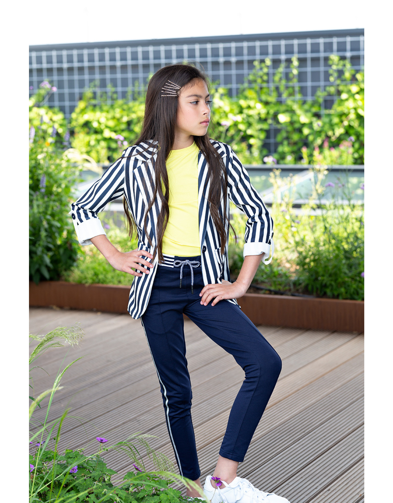 NoBell NoBell Dippy blazer stripes with rolled up sleeves