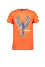 Moodstreet Moodstreet T-shirt chestprint SPORTY ORANGE