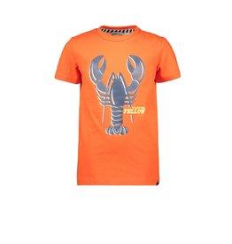 Moodstreet Moodstreet T-shirt chestprint SPORTY ORANGE
