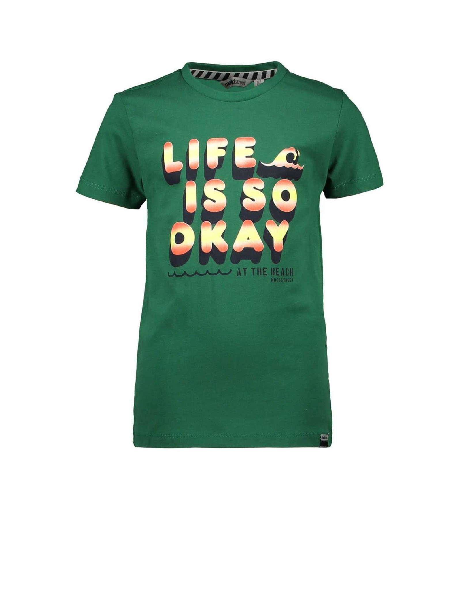 Moodstreet Moodstreet T-shirt Chestprint GREEN