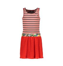 Like Flo Like Flo Girls Singlet rib Dress with fancy skirt ZIGZAG