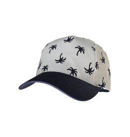Maximo Maximo MINI BOY Cap palm print zilver/navy