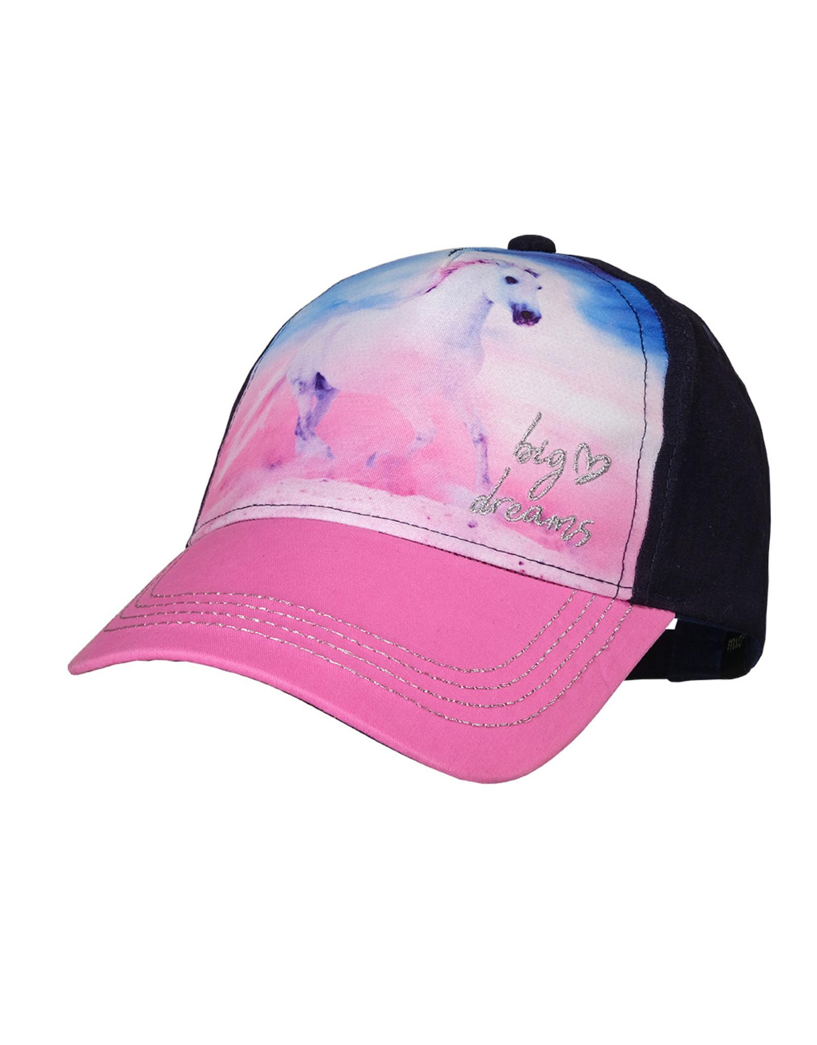Maximo Maximo KIDS GIRL Cap horse navy/pink