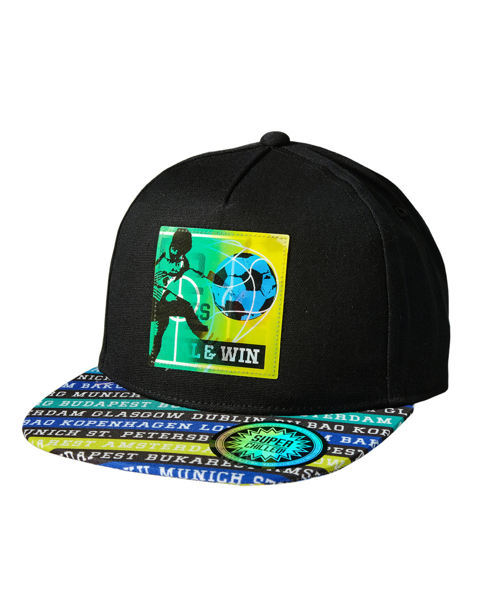 Maximo Maximo KIDS BOY Cap goal & win zwart/multicolor