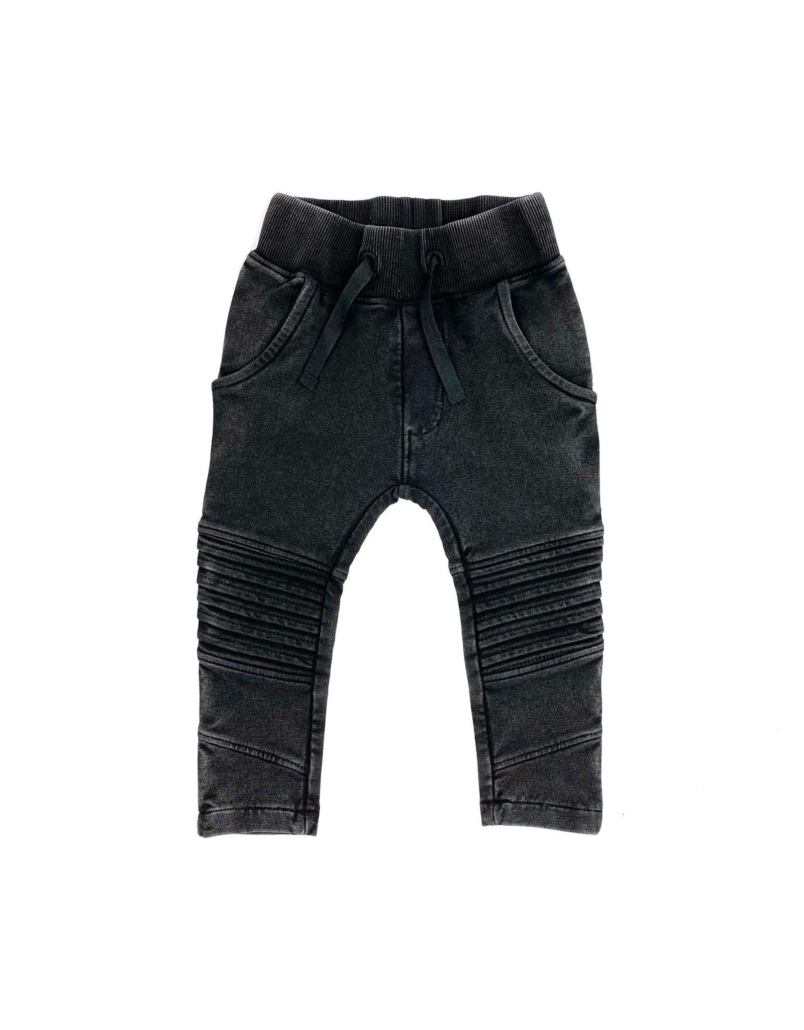 KMDB KMDB Baby Bikerpants Vic Acid Wash Black