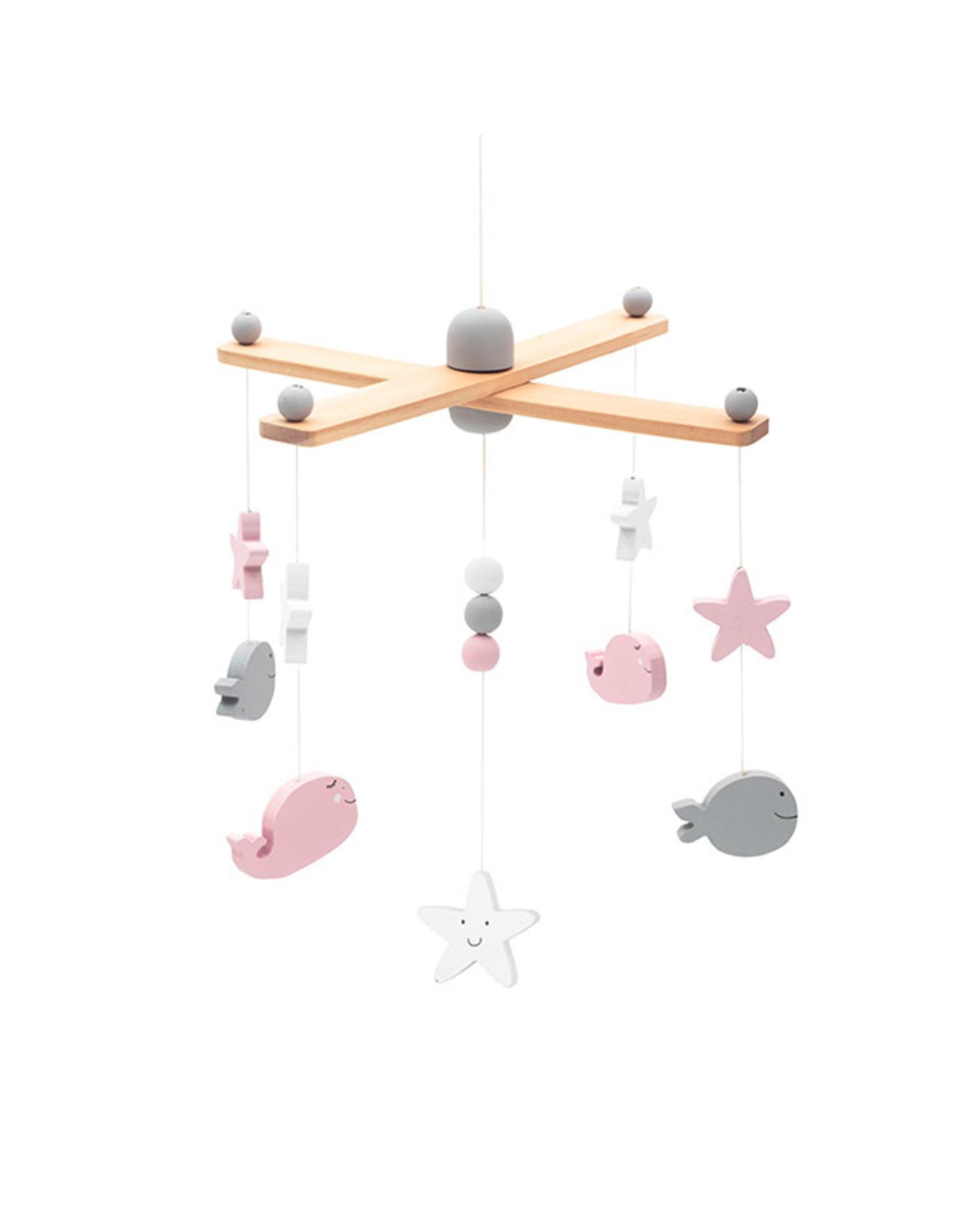 Jollein Jollein Babymobiel Sea Animals Pink/White