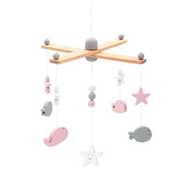 Jollein Jollein Babymobiel Sea Animals Pink/White