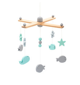 Jollein Jollein Babymobiel Sea Animals Grey/White