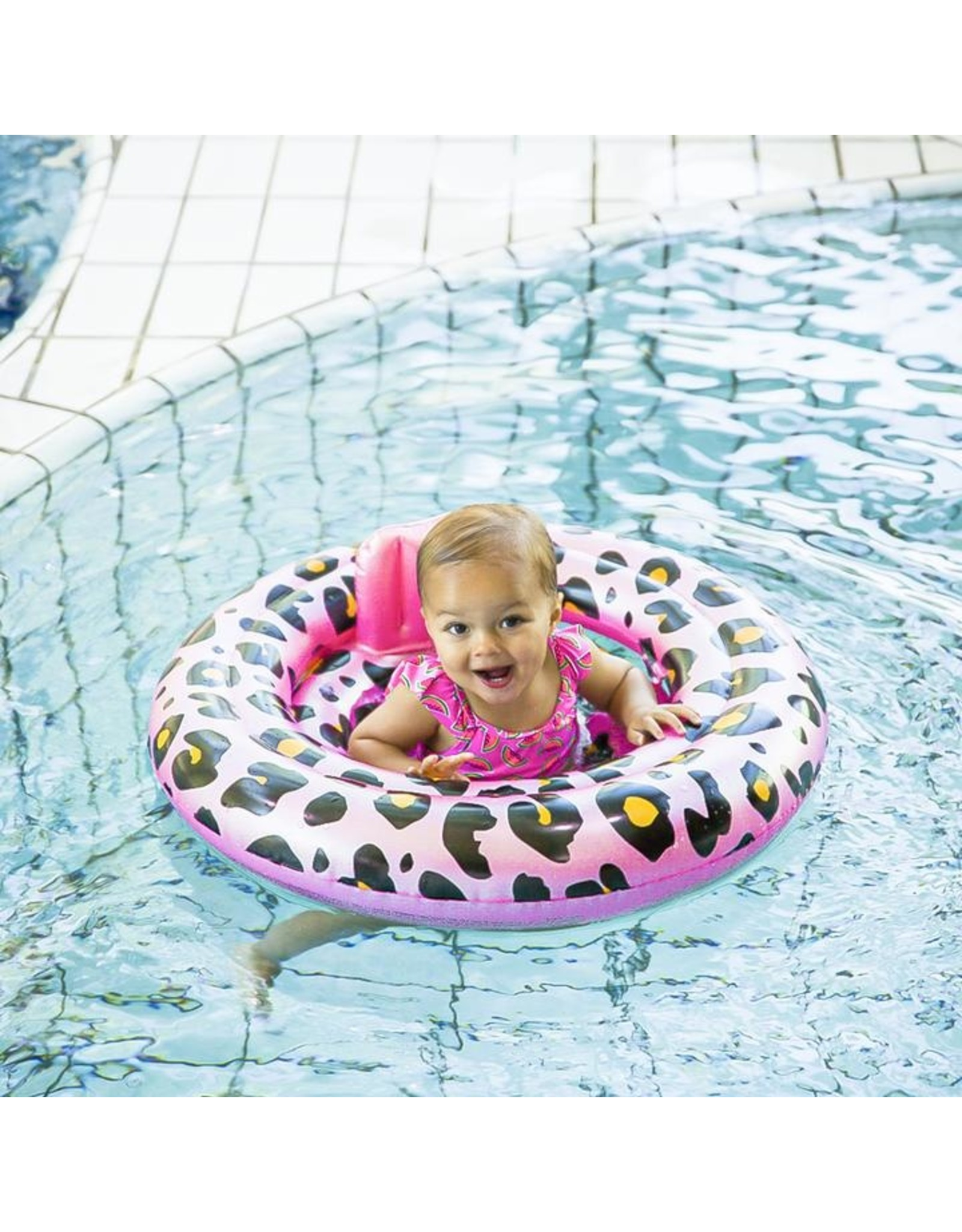 Swim Essentials Swim Essentials Rosé Gouden Panter Baby Float