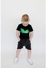KMDB KMDB Baby Shorts Vinn Acid Wash Black