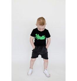KMDB KMDB Kids Shorts Vinn Acid Wash Black